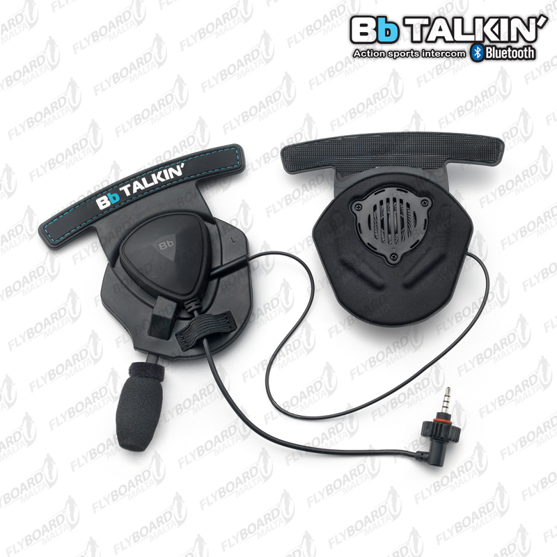 BbTALKIN' Stereo Helmet Speaker Pads with Microphone – Waterproof
