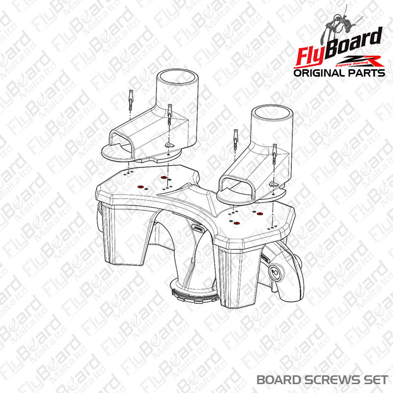 Flyboard Deck Screws Set