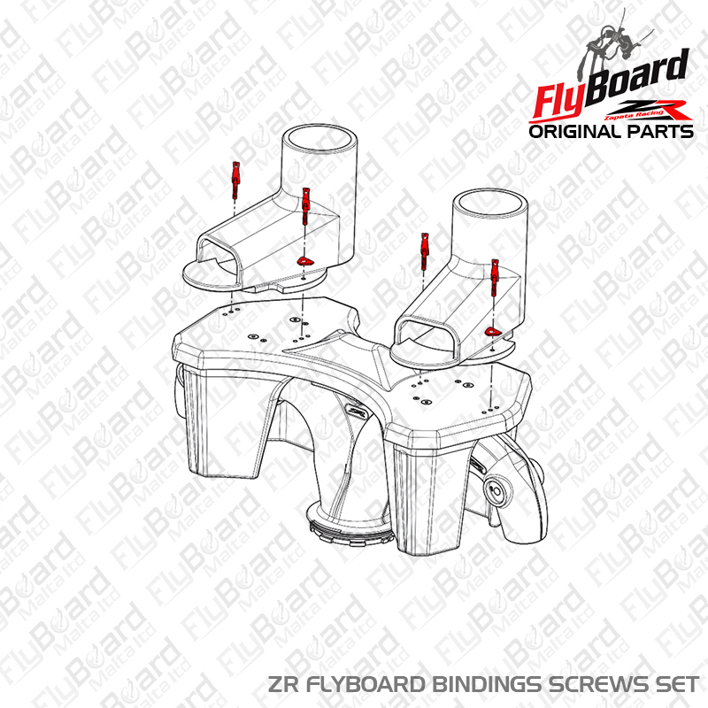 Flyboard ZR Bindings Screws Set